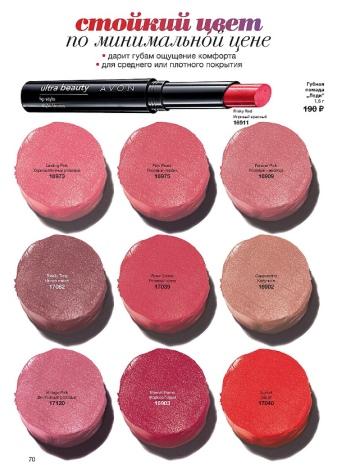 Губная помада Avon Ultra Beauty: Шик и Зимняя роза, Кофе гляссе и Латте, другие оттенки палитры и отзывы