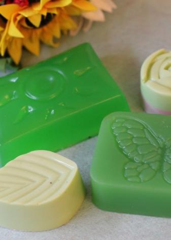 Зеленое мыло для кожи головы
