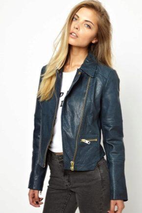 Кожаные женские пиджаки
