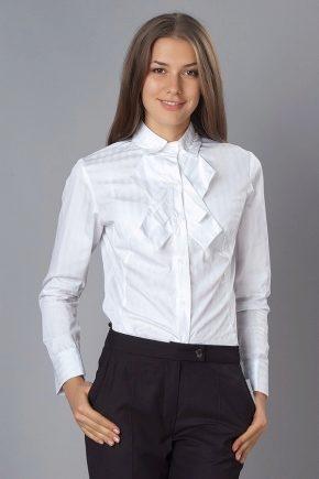 Модные школьные рубашки для девочек