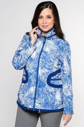 Легкие женские куртки и ветровки больших размеров