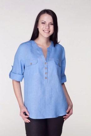 1a76c92bfbd Женская льняная рубашка (58 фото)  с чем и как носить