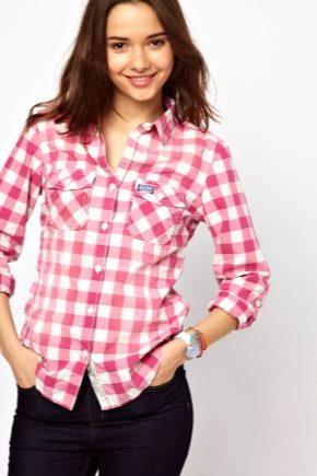 Модная женская рубашка в клетку 2019 года