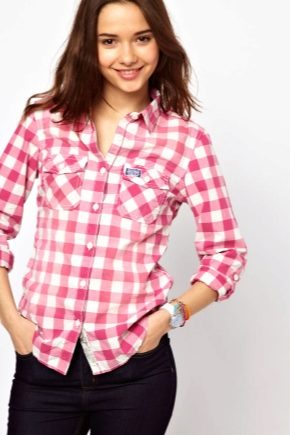 4e72dd18cb6 Рубашки в клетку женские 2019 (82 фото)  английские
