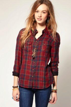 Модные луки с клетчатой рубашкой