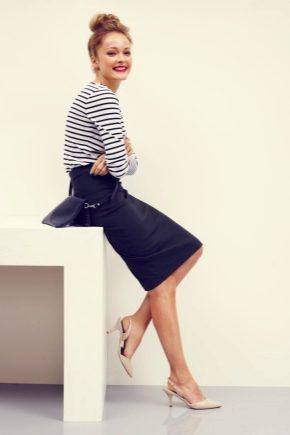С чем носить чёрную юбку-карандаш?