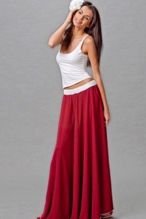 С чем носить цыганскую юбку?