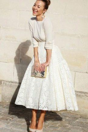 С чем носить кружевную юбку - стильные образы