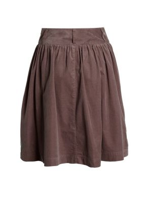 С чем носить юбку из вельвета?