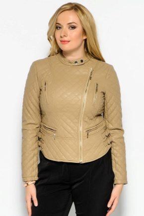 Женские кожаные куртки больших размеров