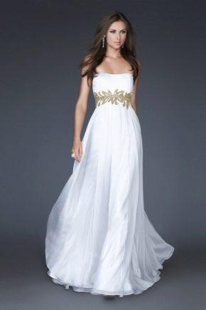 Белое платье в пол - изысканная роскошь
