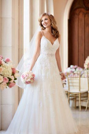 Белое свадебное платье 2018 - стильная классика