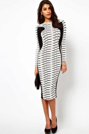 56525e1a5d9 Черно-белое платье (159 фото)  белый верх черный низ