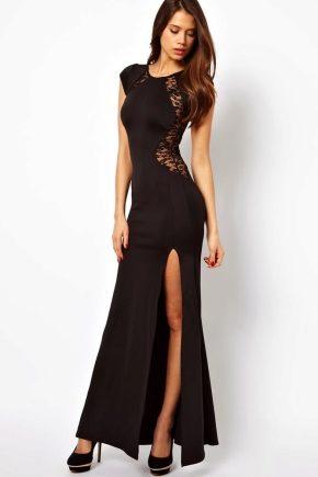 Вечерние платья черно-белые фото