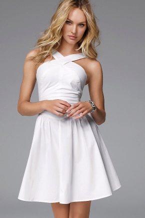 a708532e784143e Короткое белое платье (80 фото): пышное, летнее, бело-розового цвета ...