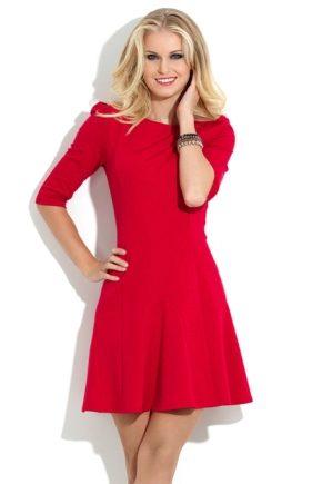 Красное коктейльное платье 2017