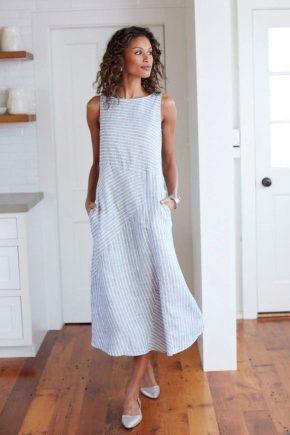 4c7436ce900 Летние платья из льна 2019 (57 фото)  модные фасоны