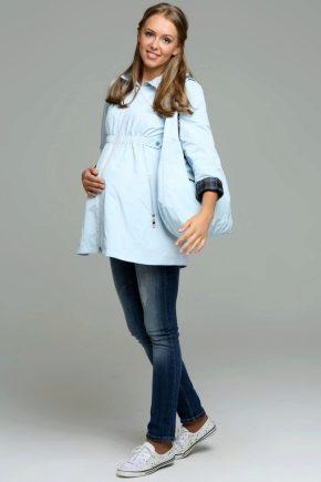 Модные плащи для беременных женщин