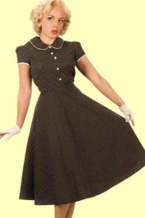 088f020df7e6 Ретро платья (140 фото)  стиль, в горошек, с пышной юбкой, вечерние ...