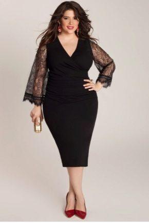 9ea7134718f Платья трикотажные больших размеров (64 фото)  для полных женщин