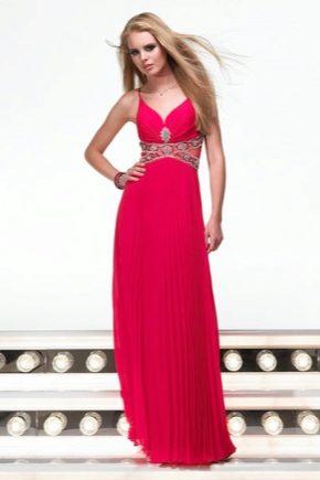 Вечернее платье розового цвета