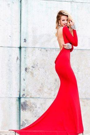 Вечернее платье с открытой спиной – скрытая сексуальность