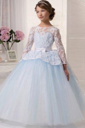 06eabbd60b1aa72 Вечерние платья для девочек (80 фото): со шлейфом, короткие ...