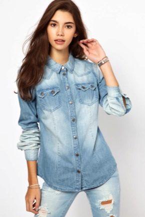 Женская джинсовая рубашка 2020 года