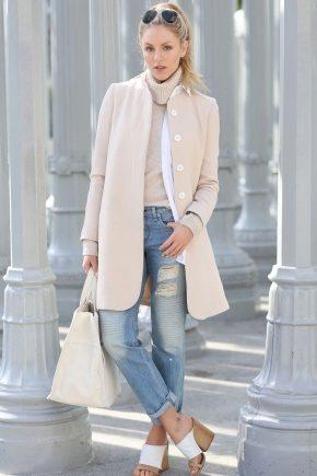 бежевые пальто 1