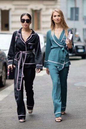 Домашние пижамы-костюмы – модный тренд 2017 года