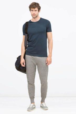 Модные мужские штаны с резинкой внизу
