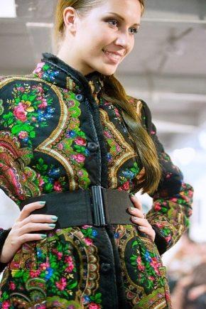 Пальто из павлопосадских платков