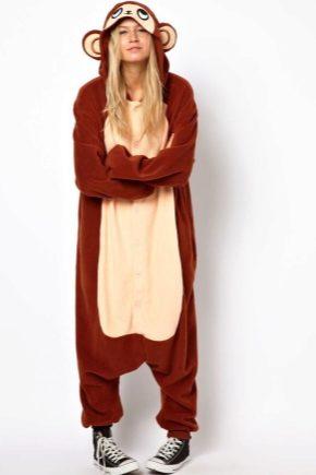 Пижама-комбинезон с капюшоном и ушками