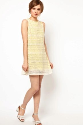 Платье а-силуэта короткое кому