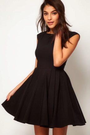 9b8362638d58 Платье с пышной юбкой (96 фото)  до колена миди, черное, приталенное ...