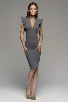 Серое платье: модели и с чем носить?