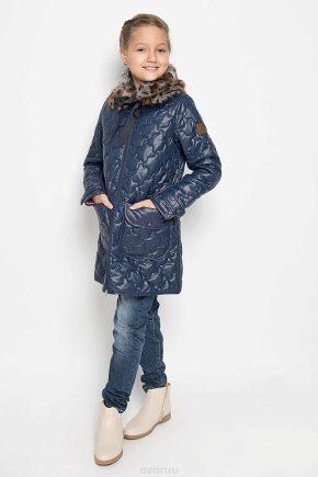 Стеганое пальто для девочки