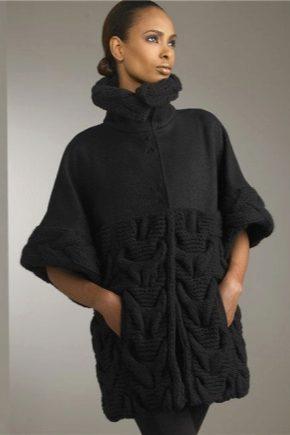 Стильное женское вязаное пальто 2018 года