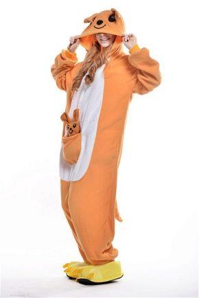 Женская пижама-кенгуру