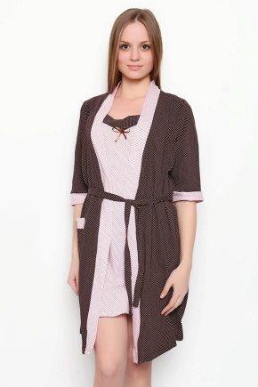 Женский комплект: халат и сорочка