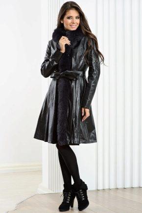 Женское кожаное пальто - главные тренды сезона