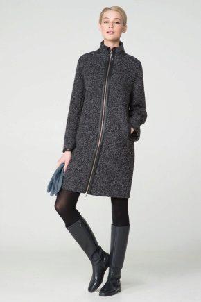Женское твидовое пальто