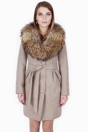 Пальто зимнее с меховым воротником купить каляев