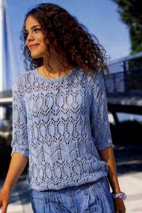Ажурный пуловер – стильное решение на зиму