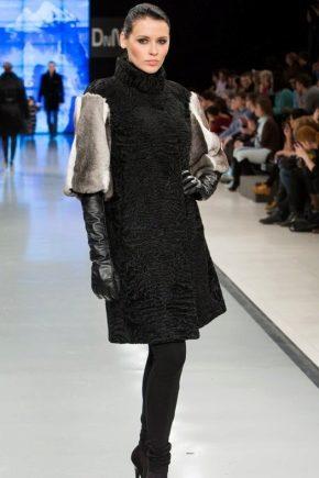 Комбинированные шубы на пике моды