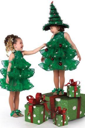 Костюм для девочки на Новый год