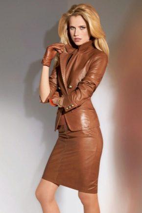 Кожаный женский костюм
