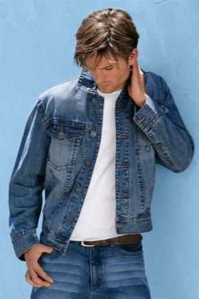 Модный джинсовый костюм для мужчин