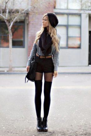 С чем носить черные шорты?