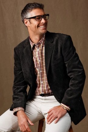 Вельветовый мужской костюм